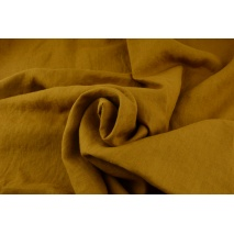 100% plain linen in a tobacco brown color 155g/m2