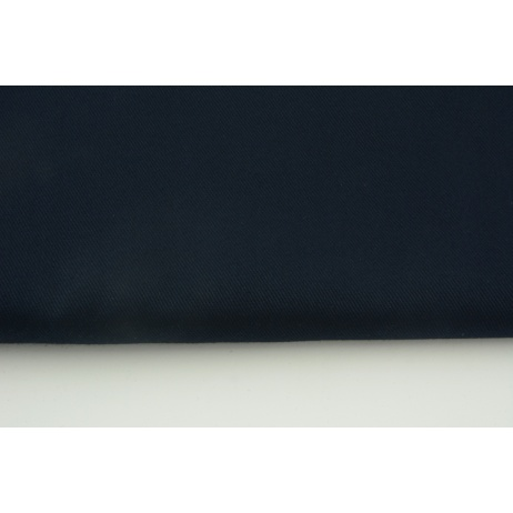 Drill, 100% cotton fabric in a plain navy colour 290g/m2