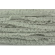 Light gray elastic cotton lace with lurex 11mm