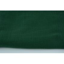 Double gauze 100% cotton plain bottle green