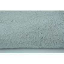 100% cotton fleece fabric gray