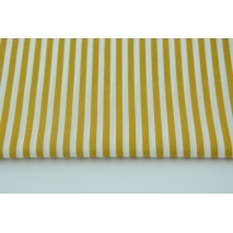 Cotton 100% mustard stripes, poplin