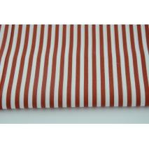 Cotton 100% 5mm ginger stripes, poplin
