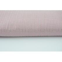Double gauze 100% cotton plain powder pink with lurex stripes