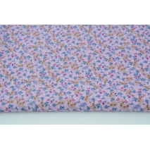 Cotton 100% meadow N1 on a violet background, poplin