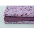 Cotton 100% meadow N1 on a violet background, poplin