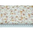 Cotton 100% leaves, twigs N1 on a ecru background, poplin
