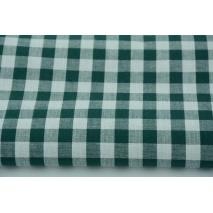 Bawełna 100% kratka vichy, dwustronna, butelkowa zieleń 1cm