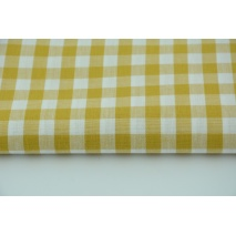 Cotton 100% double-sided, vichy check, mustard, 1cm M