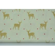 Cotton 100% glitter deer on a light background