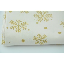 Cotton 100% glitter snowflakes on a light background