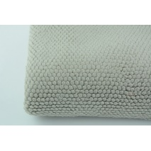 Fleece fabric gray honeycomb