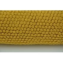 Fleece fabric mustard honeycomb