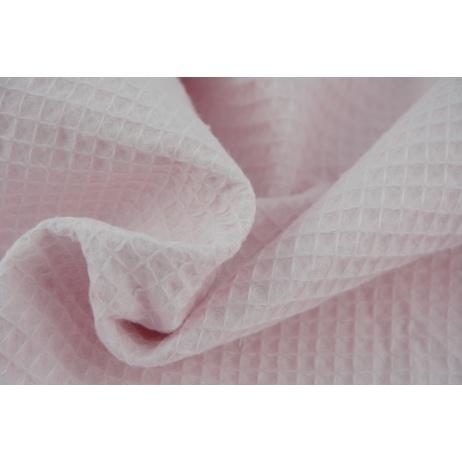 Cotton 100%, waffle fabric, plain powder pink