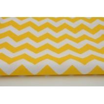 Bawełna 100% chevron zygzak zyg-zak żółty