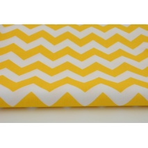 Cotton 100% yellow chevron zigzag