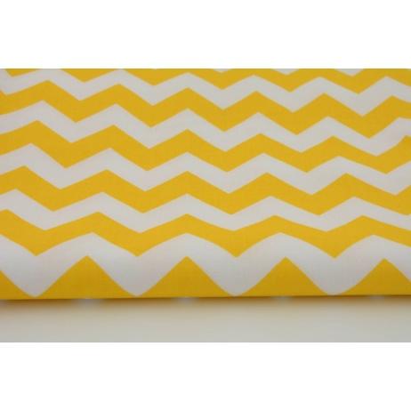 Cotton 100% yellow chevron zigzag