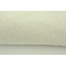 Fleece fabric honeycomb, off white