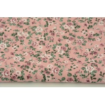 Cotton 100% small roses on a pink background, poplin