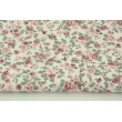 Cotton 100% small roses on a white background, poplin