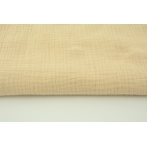 Double gauze 100% cotton plain light beige