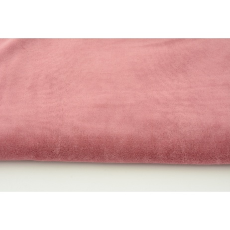 Knitwear velour, lipstick pink
