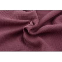 Double gauze 100% cotton plain dark heather