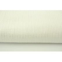Double gauze 100% cotton plain ecru with lurex stripes