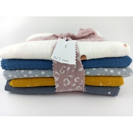 Fabric bundle No. 10 LN 30cm double gauze