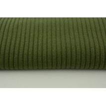 Knitted fabric ribb, khaki 80% VI, 18%NY, 2%SP