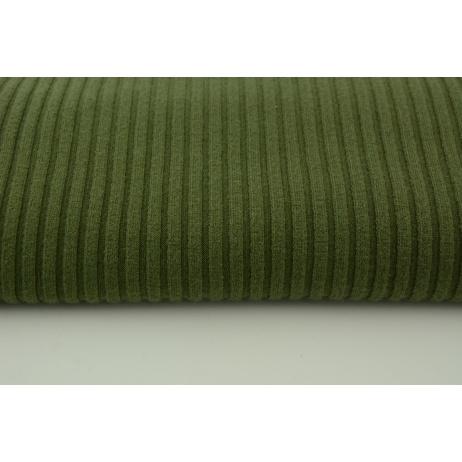 Knitted fabric ribb, khaki 80% VI, 18%NY, 2%SP