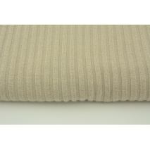 Knitted fabric ribb, beige 80% VI, 18%NY, 2%SP