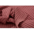 Knitted fabric ribb, lipstick pink 80% VI, 18%NY, 2%SP