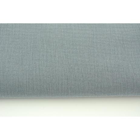 Double gauze 100% cotton plain graphite