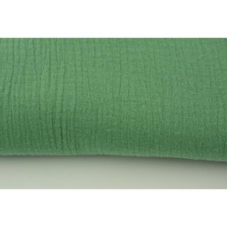 Double gauze 100% cotton plain jade