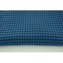 Cotton 100%, waffle fabric XXL dark blue