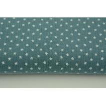 Double gauze 100% cotton little stars on dim blue background