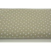 Double gauze 100% cotton little stars on beige background