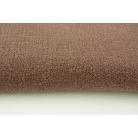 Double gauze 100% cotton plain brown