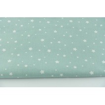 Cotton 100% white stars on a fresh sage background