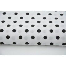 Cotton 100% black polka dots 7mm on a white background