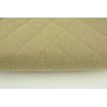 Quilted double gauze 100% cotton - beige