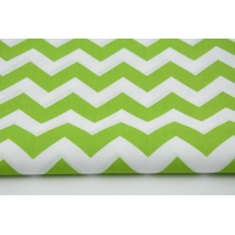 Cotton 100% green chevron zigzag
