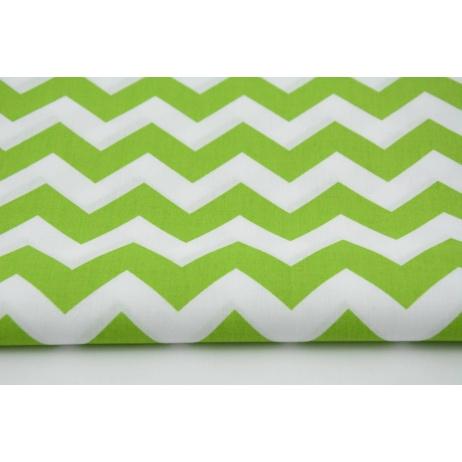 Cotton 100% green chevron zigzag