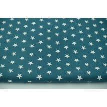 Cotton 100% stars on a petrol background, poplin