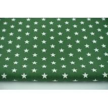 Cotton 100% stars on a dark green background, poplin