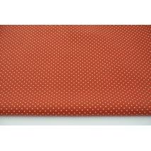Bawełna 100% mini kropki na j.rudym tle, popelina