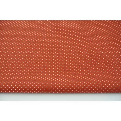 Cotton 100% mini dots on a bright red background, poplin
