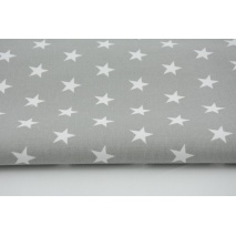 HOME DECOR stars 20mm on a light gray background strong cotton 100%
