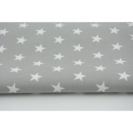 Cotton 100% stars 20mm on a light gray background